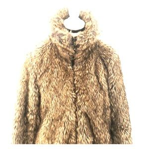 ZARA Collection faux fur coat fully lined Large